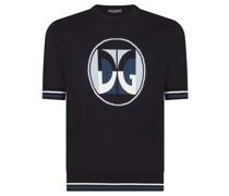 T-Shirt mit Logo-Intarsie
