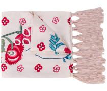 Schal mit Blütenstickerei