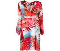 Hemdkleid mit Palmen-Print - women - Viskose