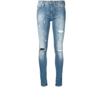 Skinny-Jeans in Distressed-Optik - women