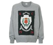 crest applique patch sweatshirt
