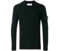 chest pocket crew neck sweater