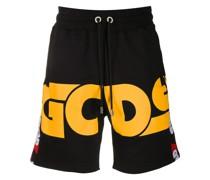 Shorts mit großem Logo-Print