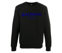 Sweatshirt mit geflocktem Logo