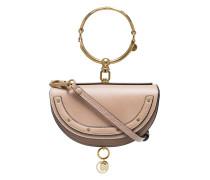 Beige Nile mini leather bracelet bag