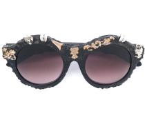 Runde Sonnenbrille mit Verzierungen