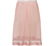 sheer panelled skirt