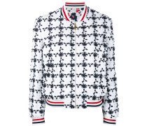 - floral embroidered bomber jacket - women