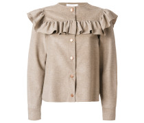 ruffled yoke jacket