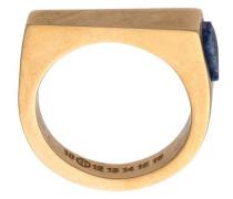 gem detail flat top ring