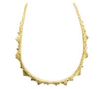 18kt vergoldete 'Spine' Halskette aus Sterlingsilber