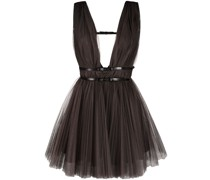 belted tulle dress