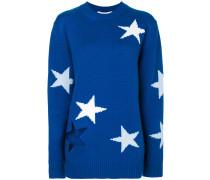 star intarsia knitted jumper