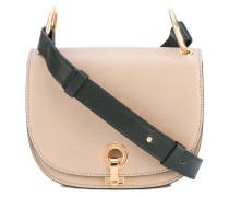 contrast strap satchel - women