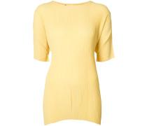T-Shirt mit Knitteroptik - women - Polyester