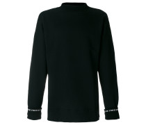 cuff intarsia detail jumper