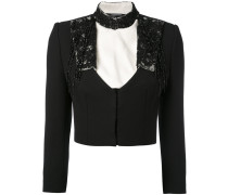 embroidered cropped jacket - women