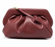 ruched leather satchel bag