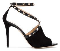 black Rockstud 105 suede sandals
