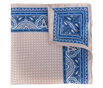 polka dot print scarf - men - Seide