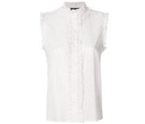 sleeveless frill-trim shirt