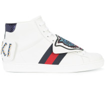 High-Top-Sneakers mit Tiger-Patch