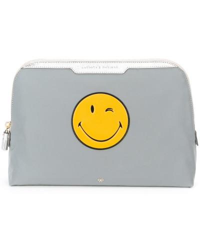 Anya Hindmarch Damen 'Smiley Lotion and Potions' Kosmetiktasche