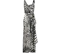 Asymmetrisches Kleid mit Zebra-Print
