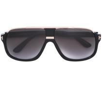 Pilotenbrille mit Kontrastdetails