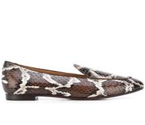 Loafer mit Schlangenleder-Optik