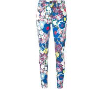 Jeans mit tropischem Print