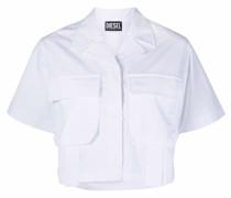 Cropped-Hemd im Military-Look