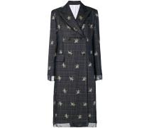 Mantel mit floralen Details