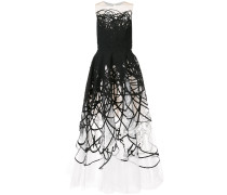 strapless scribble gown