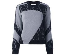 Sweatshirt mit Spitzeneinsatz