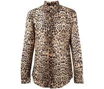 Hemd mit Leoparden-Print - men - Baumwolle - 40