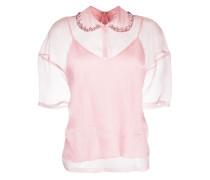 crystal-embellished blouse