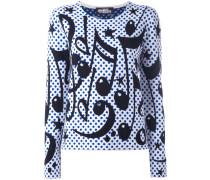 Intarsien-Pullover mit Musiknoten