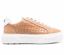 Sneakers mit Kroko-Effekt