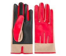 Handschuhe in Colour-Block-Optik