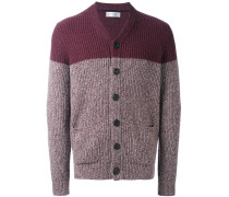 cashmere two-tone cardigan
