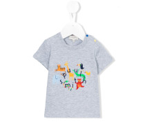 T-Shirt mit aufgedruckten Tieren - kids