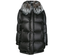 collared padded cocoon coat