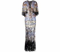 Josephine sequinned cape tulle gown