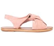 Flache Sandalen mit überkreuzten Riemen