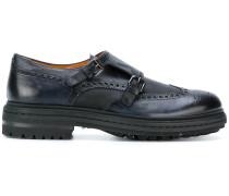 Monk-Schuhe mit Budapester-Detail