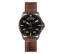 'Khaki Pilot Day Date' Armbanduhr, 42mm