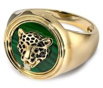 9kt Leopard Gelbgold-Siegelring