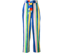 - striped high-waisted trousers - women