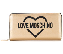 logo embroidered wallet - women - polyurethane